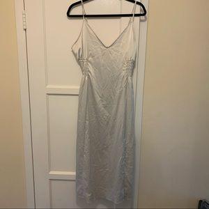 Zara sliver satin slip dress